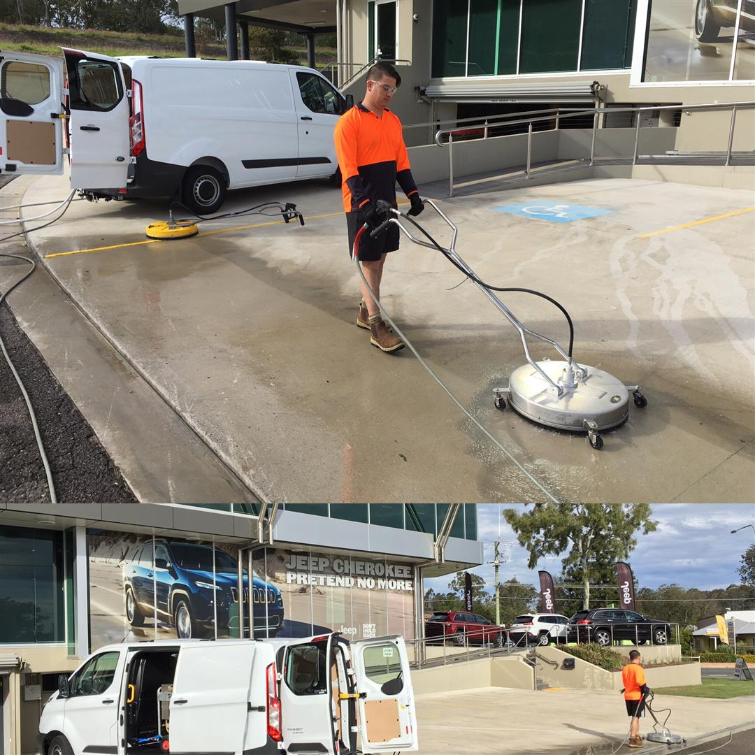 car park washing brisbane